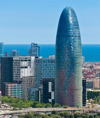 world's most popular landmarks: Agbar Tower, Barcelona