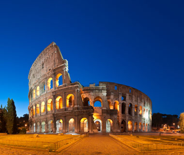 world's most popular landmarks: Colosseum, Rome