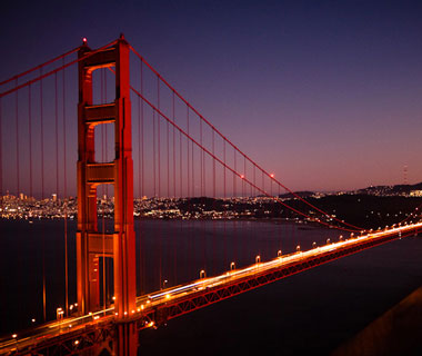 world's most popular landmarks: Golden Gate Bridge, San Francisco
