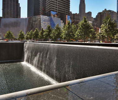 world's most popular landmarks: National September 11 Memorial, New York City