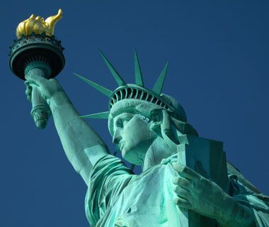 world's most popular landmarks: Statue of Liberty, New York