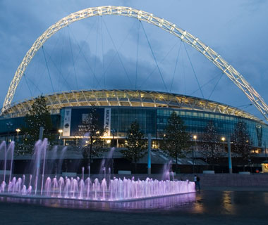 world's most popular landmarks: Wembley Stadium, London