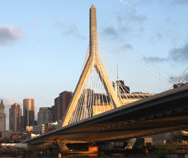 world's most popular landmarks: Zakim Bridge, Boston