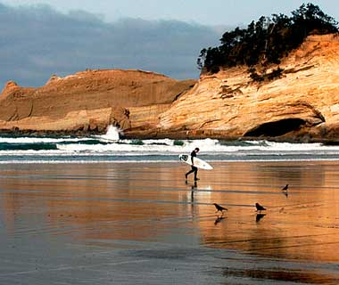 beautiful beaches: Pacific City, OR