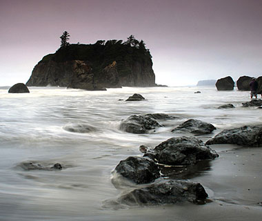 beautiful beaches: Ruby Beach, WA