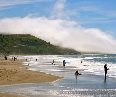 beautiful beaches: Stinson Beach, CA