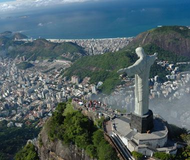 world's most popular landmarks: Christ the Redeemer, Rio de Janeiro, Brazil
