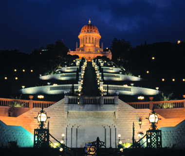 most-visited sacred sites: Baha'i Shrine