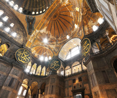 most-visited sacred sites: Aya Sofya (Hagia Sofia)