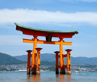 most-visited sacred sites: Itsukushima Shrine