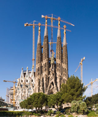 most-visited sacred sites: Sagrada Familia
