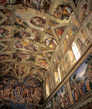 most-visited sacred sites: Sistine Chapel