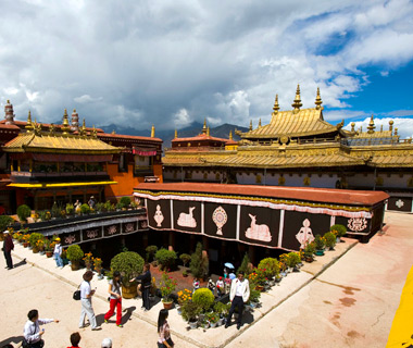 most-visited sacred sites: Jokhang Temple, Tibet