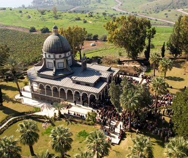 most-visited sacred sites: Mount of Beatitudes