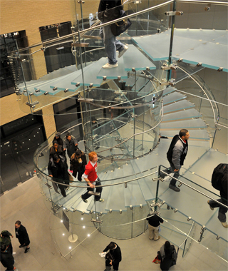 world's coolest staircases: Floating Glass Staircase, West 14th Street Apple Store
