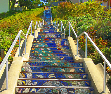 world's coolest staircases: 16th Avenue Mosaic Staircase