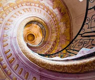 world's coolest staircases: Melk Abbey