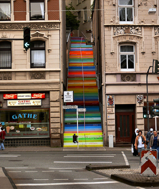 world's coolest staircases: Scala (Rainbow Staircase)