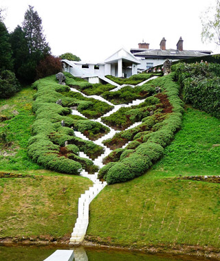world's coolest staircases: The Cascading Universe, Garden of Cosmic Speculation