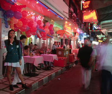 world's least romantic places: Bangkok's Patpong Road