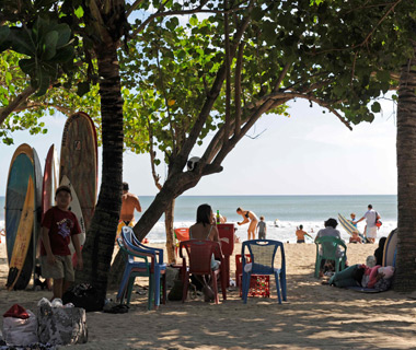 world's least romantic places: Bali's Kuta Beach