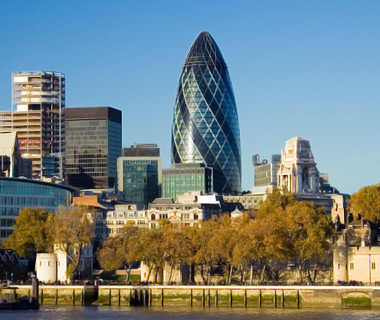 world's top new buildings: Swiss Re Building, London