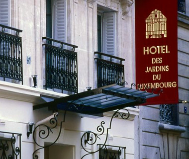 affordable Paris hotels: Hotel les Jardins du Luxembourg