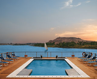 Best Hotel Gym Views: Oberoi Zahra, Egypt