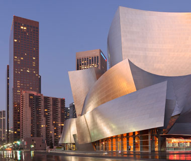 new landmarks around the world: Walt Disney Concert Hall
