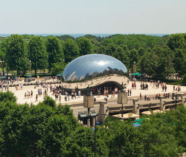 new landmarks around the world: Millennium Park