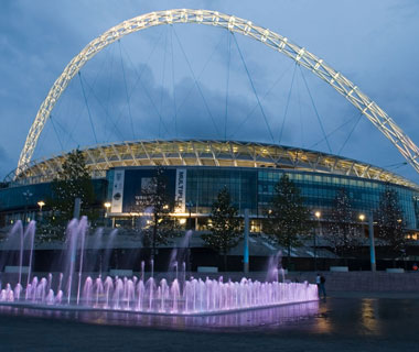 new landmarks around the world: Wembley Stadium
