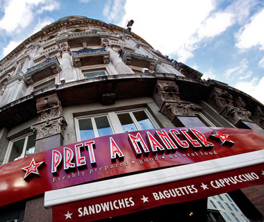 best fast-food chains in the world: Pret a Manger