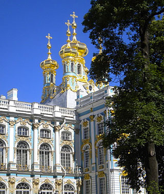 beautiful castles: Catherine Palace, St. Petersburg