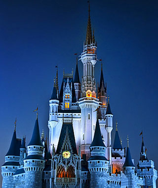 beautiful castles: Cinderella's Castle, Magic Kingdom, Orlando, Florida