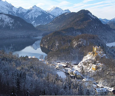 beautiful castles: Hohenschwangau Castle, Bavaria, Germany