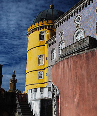 beautiful castles: Pena National Palace, Sintra, Portugal
