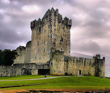 beautiful castles: Ross Castle, Killarney, County Kerry, Ireland