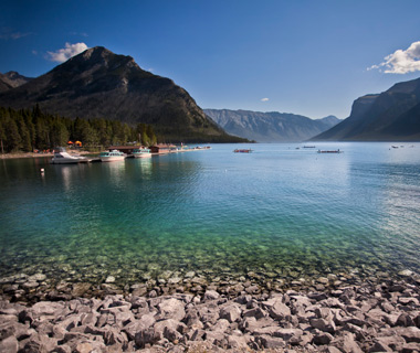 coolest underwater attractions: Lake Minnewanka