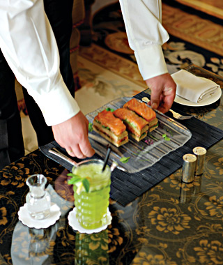 over-the-top room service: Four Seasons
