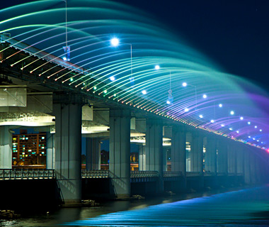 world's most amazing fountains: Moonlight Rainbow, Seoul