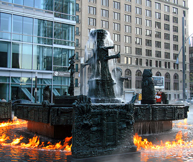 world's most amazing fountains: La Joute, Montreal
