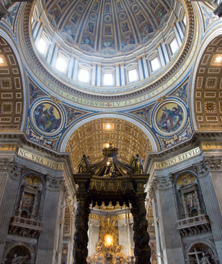 Europe's most-visited tourist attractions: St. Peter's Basilica, Rome