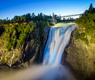 beautiful waterfalls: Chutes de Montmorency, Quebec City, Canada