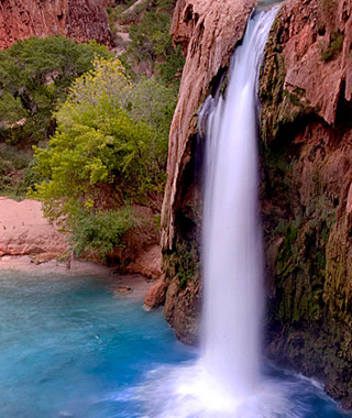 beautiful waterfalls: Havasu Falls, Supai, AZ