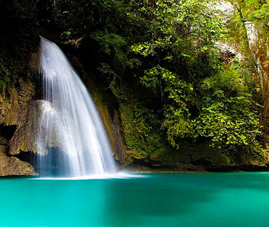 beautiful waterfalls: Enchanted Kawasan Falls, Badian, Cebu, Philippines