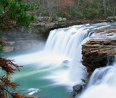 beautiful waterfalls: Little River Falls, Fort Payne, AL