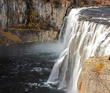 beautiful waterfalls: Mesa Falls, Targhee National Forest, ID