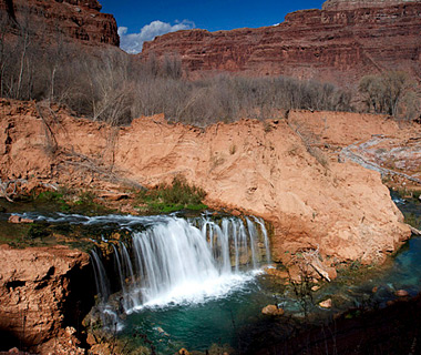 beautiful waterfalls: Navajo Falls, Supai, AZ