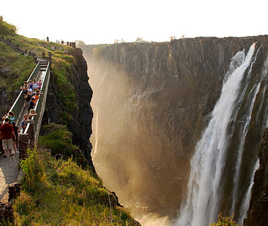 beautiful waterfalls: Victoria Falls, Zambia