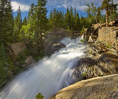 beautiful waterfalls: Alberta Falls, Estes Park, CO